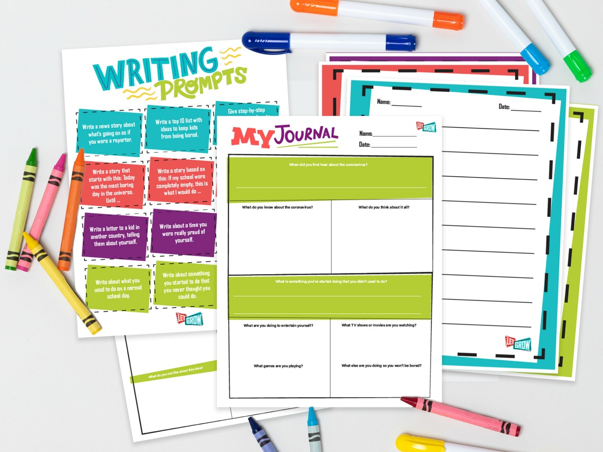 Free Printable Journal Pages Will Help Your Kids Capture This Time in History