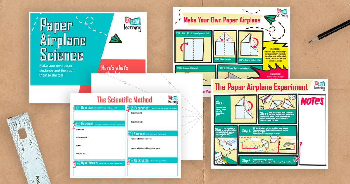 Create Your Own Science Experiment with Our Free Paper Airplane Printable