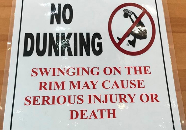 Funny Signs Dunking