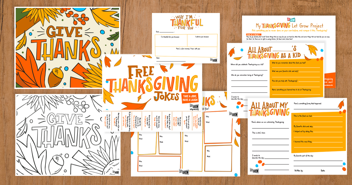 Thanksgiving activity pages